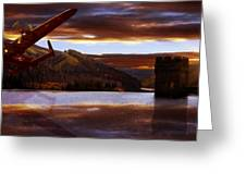 Lancaster Over Howden Dam Greeting Card by Nigel Hatton