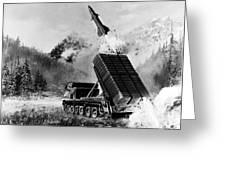 Lance Missile, C1980 Greeting Card