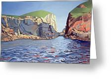 Land And Sea No I - Ramsey Island Greeting Card