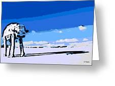 Land Battle 2 Greeting Card