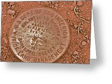 Land Survey Marker Greeting Card