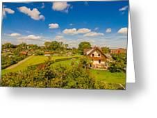 Landliches Dorf  Greeting Card