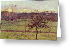 Landscape At Eragny Greeting Card