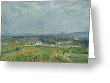 Landscape In Pontoise Greeting Card by Camille Pissarro