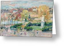 Landscape In Tours Greeting Card