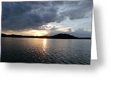 Landscape Lake At Sunset Greeting Card