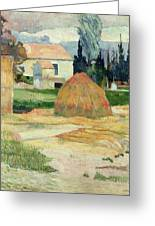 Landscape Near Arles Greeting Card