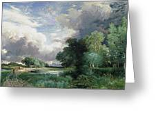 Landscape With A Bridge Greeting Card