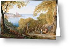 Landscape With View Of Lerici Greeting Card