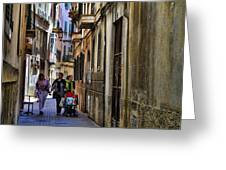 Lane In Palma De Majorca Spain Greeting Card