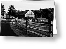 Langus Farms Black And White Greeting Card