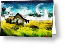 Lanscape With A House Tnm Greeting Card