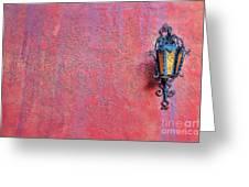 Lantern And Adobe Wall Greeting Card