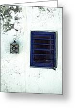 Lantern And Window Greeting Card