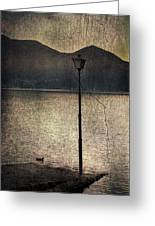 Lantern At The Lake Greeting Card by Joana Kruse
