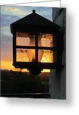 Lantern In The Sunset Greeting Card