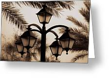 Lanterns And Fronds Greeting Card