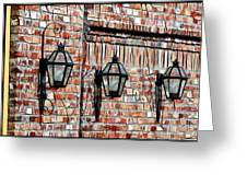 Lanterns In The Courtyard Greeting Card