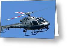 Lapd Aerial Chopper Greeting Card