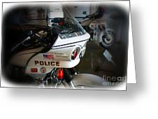 Lapd Motorcycle Greeting Card