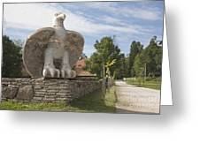 Large Bird Statuary Greeting Card