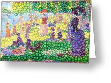 Large Bubbly Sunday On La Grande Jatte Greeting Card by Mark Einhorn