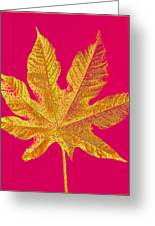 Large Leaf Photoart Greeting Card
