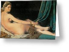 Large Odalisque Greeting Card