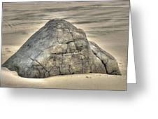 Large Rock On The Beach Greeting Card