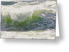 Large Waves On The Coast Of Maine Greeting Card