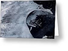 Larsen B Ice Shelf Breaking Away 2 Of 5 Greeting Card