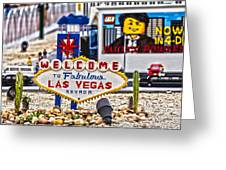 Las Legos Greeting Card by Nicholas Evans