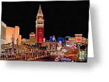 Las Vegas Canvas Panorama Greeting Card