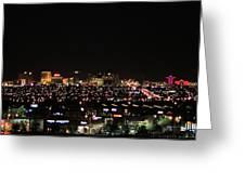 Las Vegas Nevada Nighttime Skyline Greeting Card