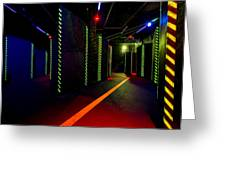 Laser Game Area With Obstacles Greeting Card