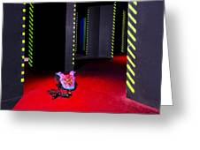 Laser Game Playing Space With Walls Greeting Card by Corepics