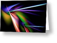 Laser Light Show Greeting Card