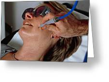 Laser Skin Treatment Greeting Card