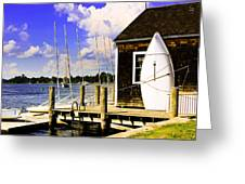 Lasers On The Dock2 Greeting Card