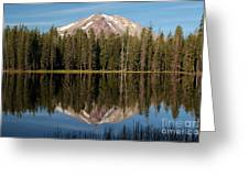 Lassen Peak Reflections Greeting Card
