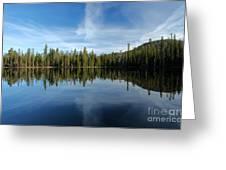 Lassen Summit Lake Reflections Greeting Card