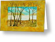 Last Autumn Day  Greeting Card