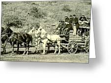 Last Deadwood Coach 1890 Greeting Card