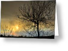 Last Light In The Storm Greeting Card