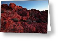 Last Light In Valley Of Fire Greeting Card