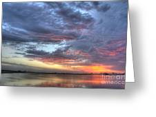 Last Light Over The Lake Greeting Card