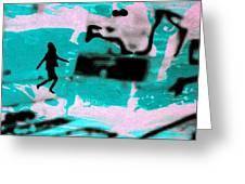 Last Minute - Digital Art Neon Colors Greeting Card