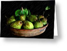 Last Of The Pears Greeting Card