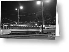Last Streetcar Greeting Card