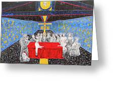 Last Supper The Reunion Greeting Card